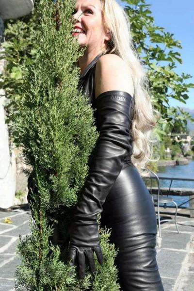 Lederhandschuhe 70 cm lang MICELI - Made in Italy