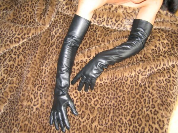 Lederhandschuhe 60 cm lang