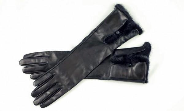 Luxus Herren Lederhandschuhe mit Nerz