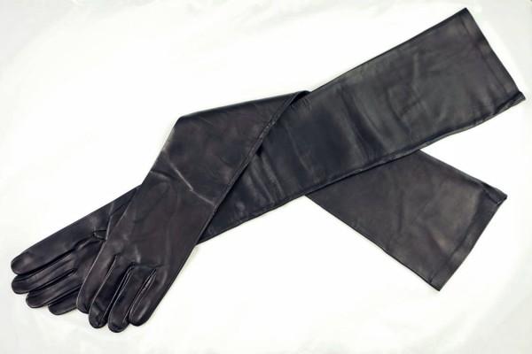 Damen Lederhandschuhe schulterlang - MICELI - Made in Italy