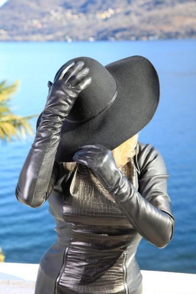 Damen Evening Gloves Gala Lederhandschuhe