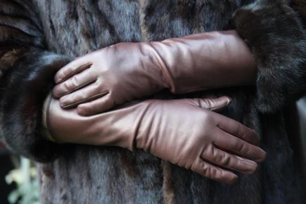 Herren Handschuhe Leder gefüttert braun
