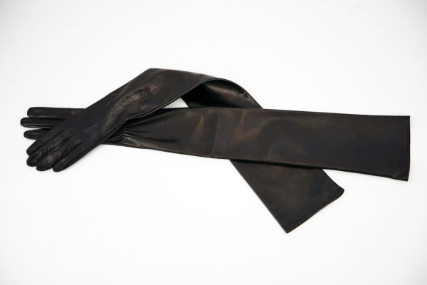 80 cm lange Lederhandschuhe schulterlang MICELI - Made in Italy