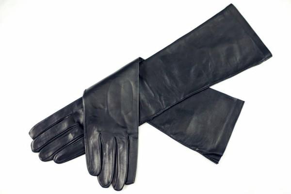 Ellenbogenlange Lederhandschuhe für Herren MICELI - Made in Italy