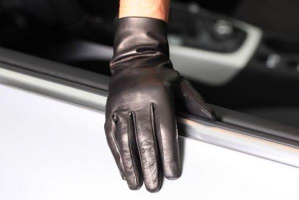 Damen Handschuhe Leder mit Seidenfutter