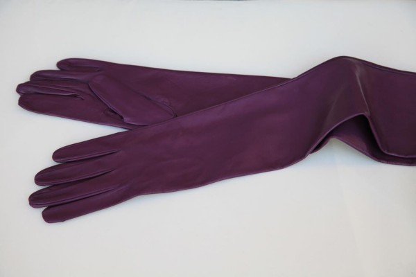 Lederhandschuhe 75 cm lang MICELI - Made in Italy
