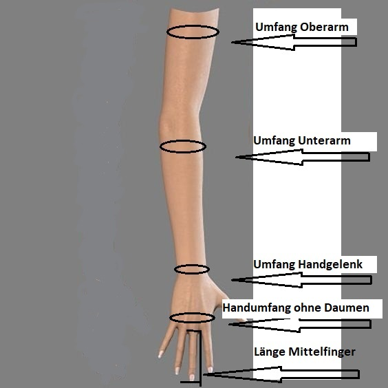 Masse-lange-Handschuhe